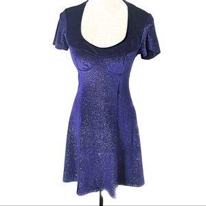 Vintage glitter 90's club dress